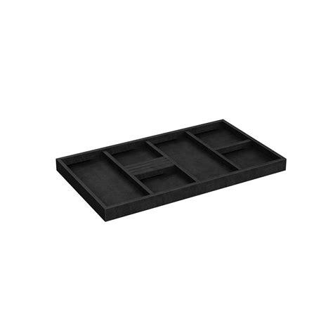 closetmaid style 22 in w black velvet jewelry tray 2199