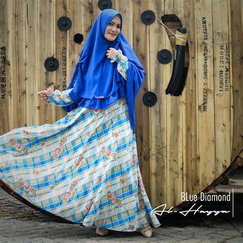Gamis Wolfis Premium Set Khimar baju gamis monalisa blue syar i busana muslim