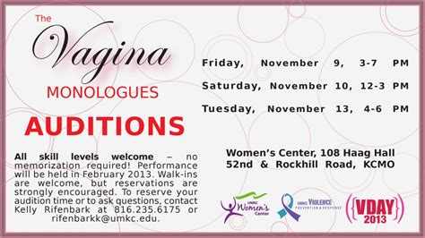 open auditions for the vagina monologues university of idaho offstage umkc women s center quot vagina monologues quot preview