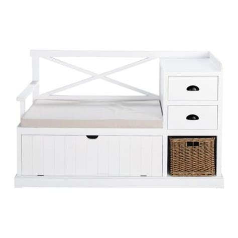 bench freeport wooden hallway unit in white w 135cm freeport maisons du
