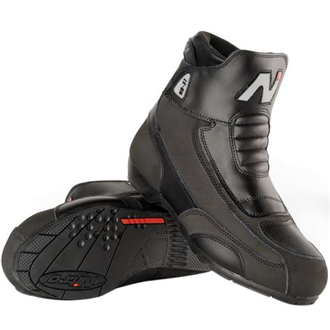 short motocross boots nitro nb 31 short leather cruiser street motorbike