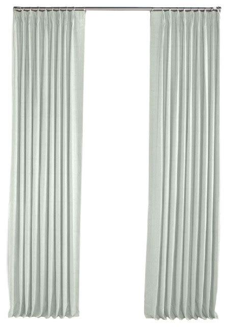 seafoam curtains pale seafoam slubby linen pleated curtain single panel