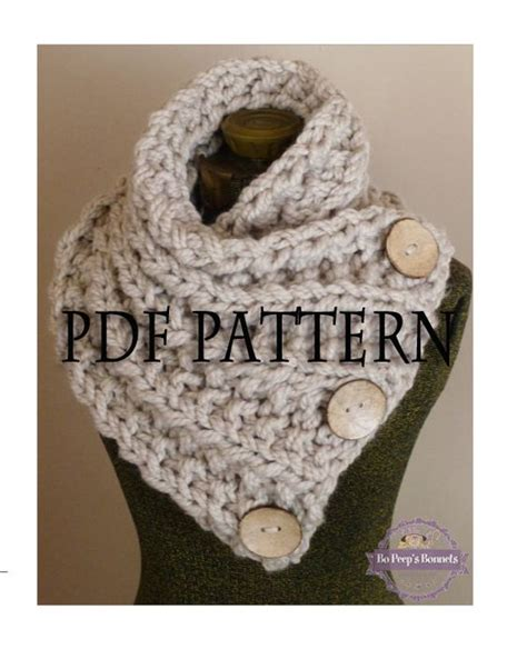 button scarf knitting pattern knitting pattern the lancaster scarf chunky button
