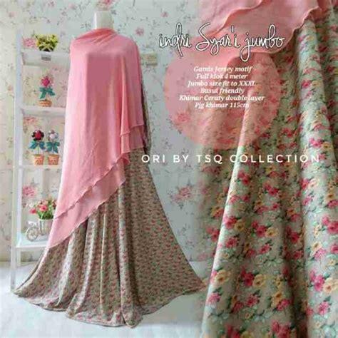 Baju Gamis Syari Ukuran Jumbo gamis jumbo indri syar i motif bunga baju muslim jersey cantik