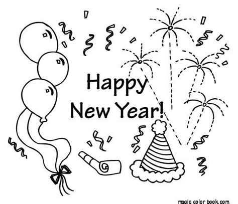 new years colors new years eve printable coloring pages free search