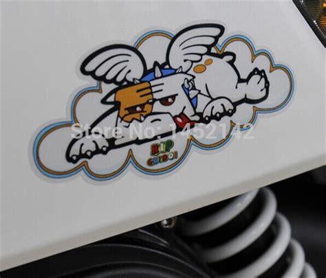 Sticker Guido Velentino 2 pcs lot valentino mascot bulldog guido stickers waterproof bikes and helmets decals