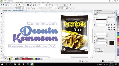 tutorial membuat desain kemasan snackmakanan ringan