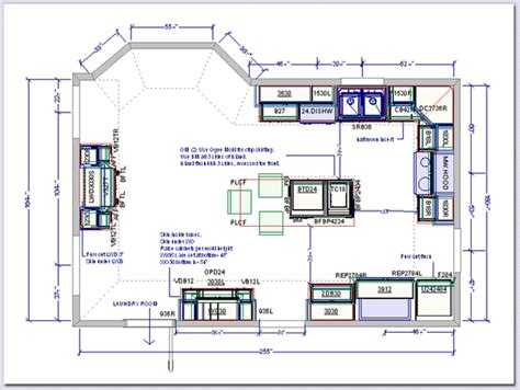 Kitchen Floor Plans With Island Kitchen Drafting Service Kitchen Design Plans Freelance Kitchen Plans Ekitchenplans