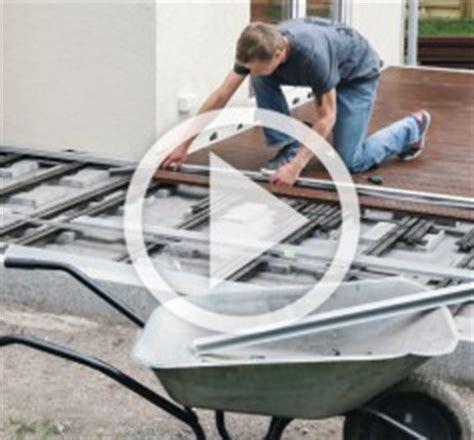wpc terrassendielen verlegen auf beton 4231 terrasse bauen mit hornbach