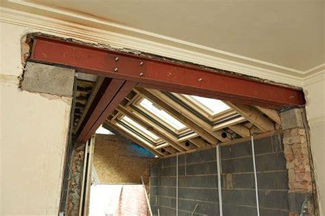 steel lintel over new doorway   metal beam   Building a