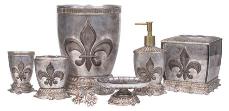 fleur de lis bathroom set french flair luxe fleur de lis bath accessories bathroom