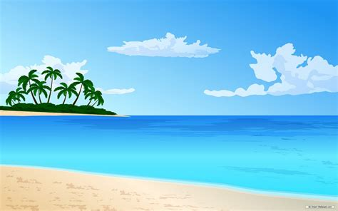 wallpaper cartoon beach scenery clipart ocean theme pencil and in color scenery