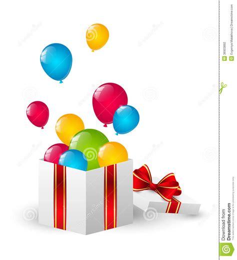 imagenes de regalo con globos deamor caja de regalo con los globos del color fotograf 237 a de