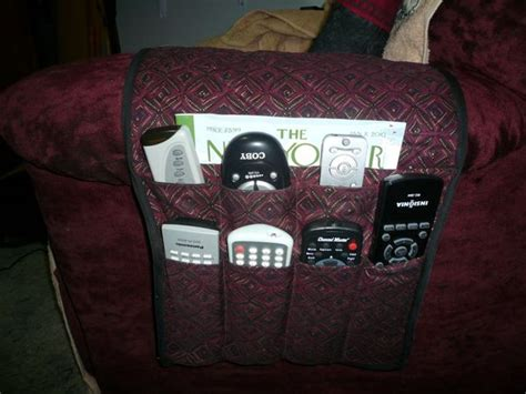 remote control holder for armchair qulited arm chair organizer done