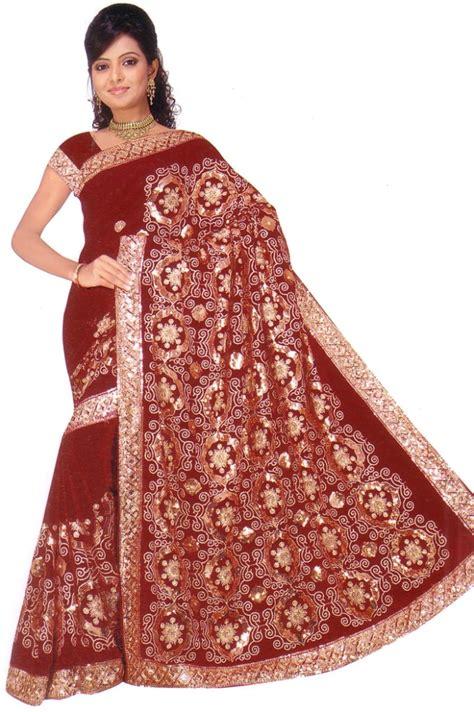 how to drape a heavy saree nw bollywood wedding chiffon heavy sequin saree sari india