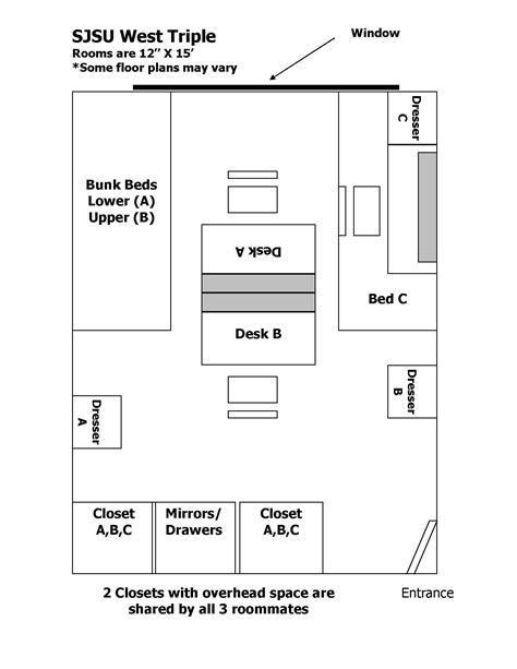 mission san jose floor plan san jose state housing floor plans house design plans