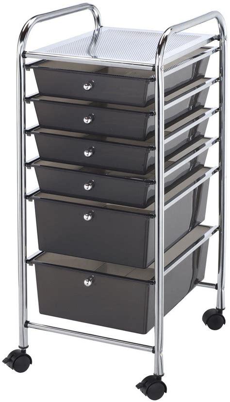 Makeup Cart With Drawers 6 Drawer Steel Storage Rolling Cart Organizer Rack Metal