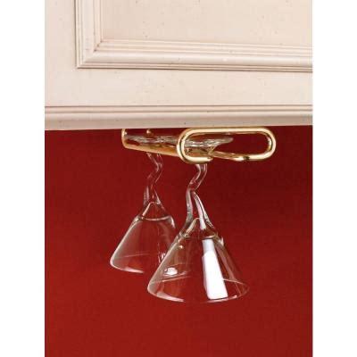 Brass Wine Glass Rack by Rev A Shelf 18 In Brass Wine Glass Holder 3150 18br The