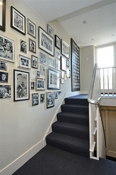 chic ways  decorate  staircase wall noted list
