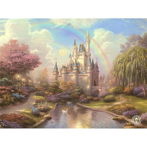 your wdw store disney postcard thomas kinkade a new