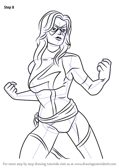 doodle drawing contest step by step how to draw ms marvel from marvel contest of