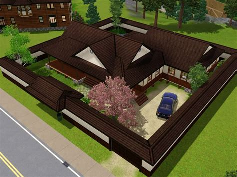 Japanese Mansion Floor Plans by Mod The Sims The Yomoshoto Residence A Traditional