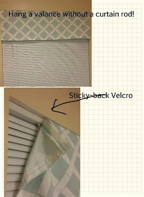 how do i hang a curtain rod hang a valance without a curtain rod use adhesive velcro