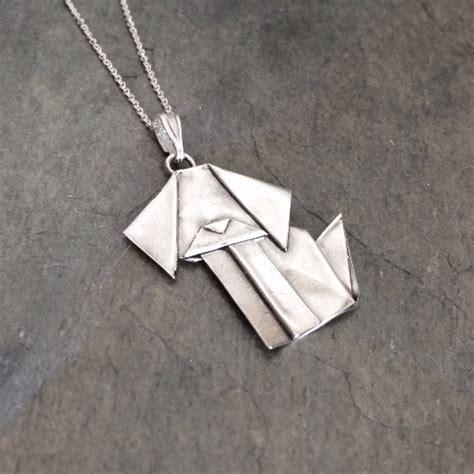 Origami Pendant - silver origami pendant by allegro arts allegro arts