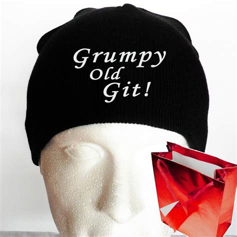 christmas present for grumpy old man grumpy git beanie hat gifts for secret santa gift humbug ebay