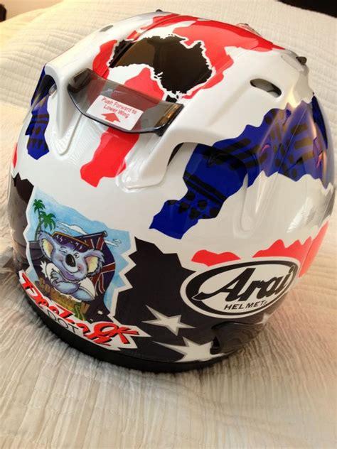 Arai Rx7x Pedrosa Size L fs brand new replica mick doohan arai quantum helmet sz l stunt bike forum