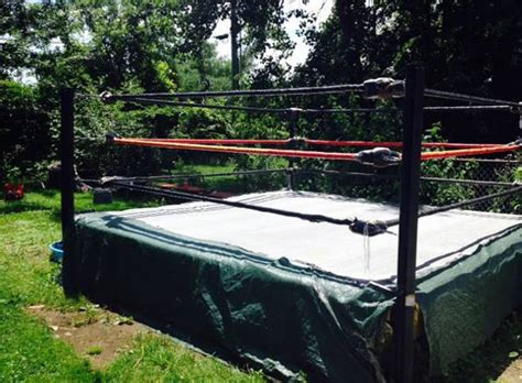 how to make a backyard wrestling ring this backyard wrestling ring in cleveland is for sale on