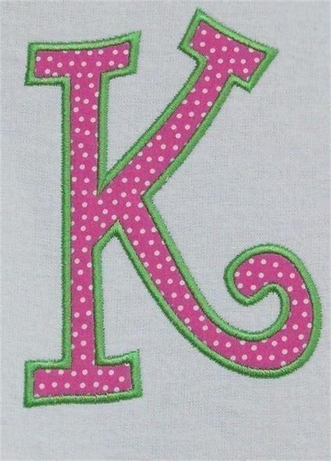 Free Large Applique Letters