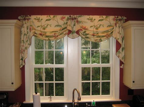 valance ideas for kitchen windows valance idea for the kitchen sink window treatments