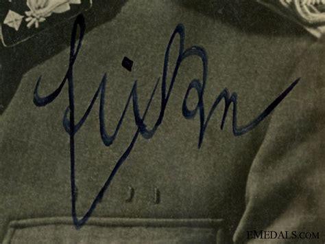 Ss Signature theodor eicke ss totenkopf commander signature