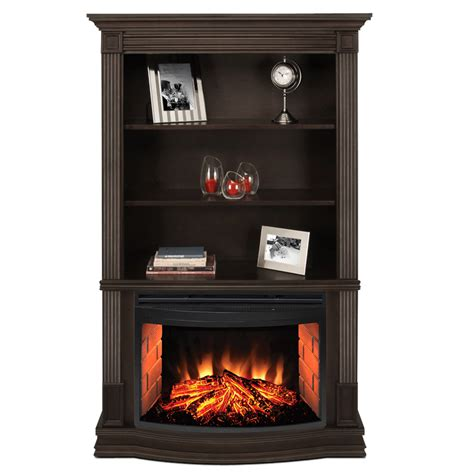 Muskoka Picton Electric Fireplace With Bookshelves Electric Fireplace With Bookshelves