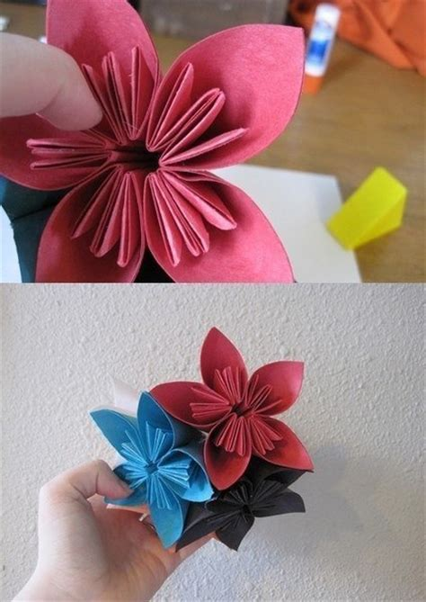 Origami Beautiful Flowers - how to make beautiful origami kusudama flowers