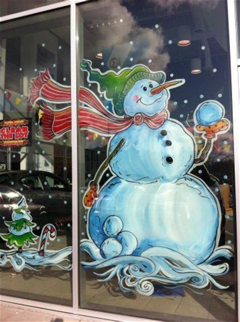 window painting signs christmas holiday seasonal artist window painting the graphic garden lovely window