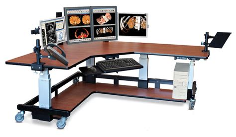 Corner Stand Up Desk with Stand Up Corner Computer Table With Accessories
