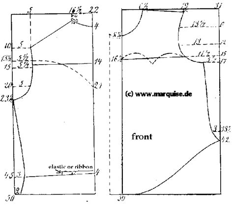 blouse pattern making tutorial pdf how ladies garments were made blouses and tailles