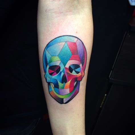 cubism tattoo skull watercolor cubism by juan david castro r