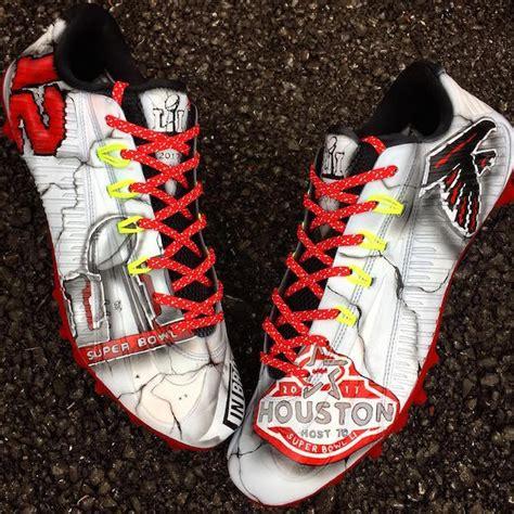 custom football shoes mohamed sanu bowl li cleats by kreative custom kicks