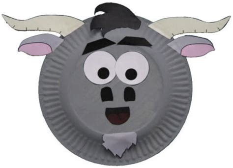 Goat Paper Plate Craft - paper plate goat craft