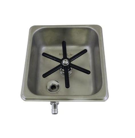 krome flush mount frothing pitcher glass rinser c335