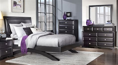 belcourt black 5 pc king platform bedroom king bedroom