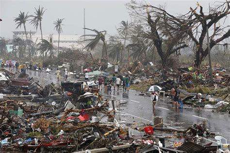 1950s Houses by Super Typhoon Haiyan Devastates Philippines More Than