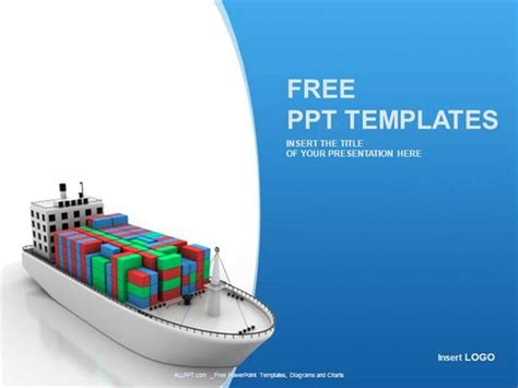 powerpoint themes ships container ship industry ppt templates standard authorstream