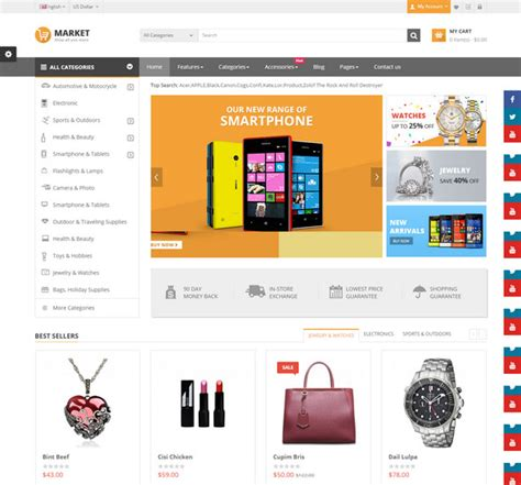 download layout opencart 25 best responsive opencart ecommerce themes