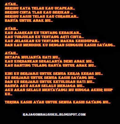 puisi hari ayah nasional ucapan selamat hari ayah