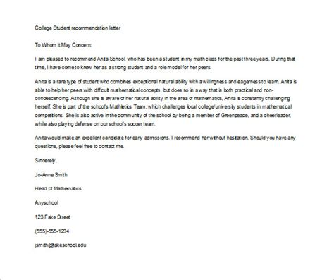 College Admissions Letter Of Recommendation How To Write An Admission Letter