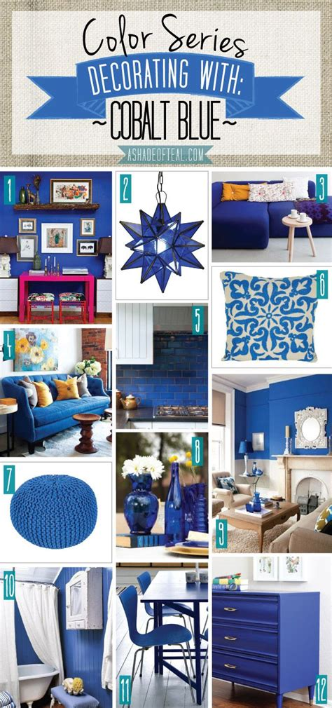 Teal Blue Home Decor by Color Series Decorating With Cobalt Blue Shades Of Teal